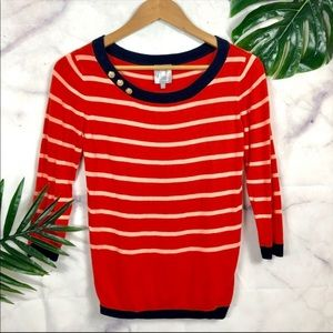 Anthro HI There by Karen Walker Striped Sweater XS